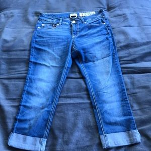 Indigo Rein cropped and cuffed Jeans